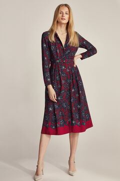 Pedro del Hierro Printed shirt dress Red