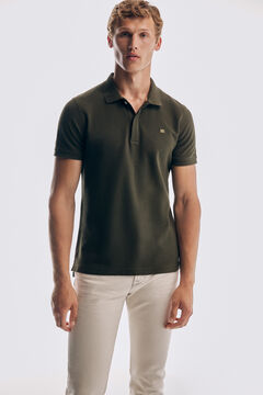 Pedro del Hierro Antivirus short sleeve slim fit polo shirt Grey