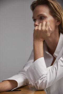Pedro del Hierro Oversize shirt blouse White