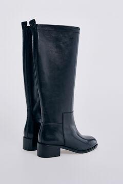 Pedro del Hierro Leather riding boots Black
