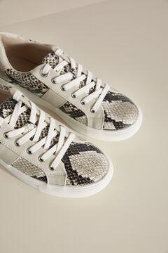 Pedro del Hierro Snakeskin sneaker Grey