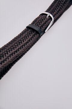 Pedro del Hierro Woven fabric belt Brown