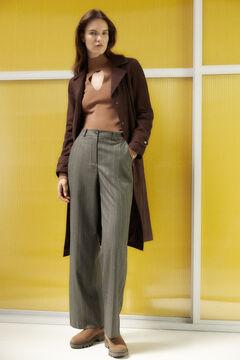 Pedro del Hierro Straight trousers with darts Grey