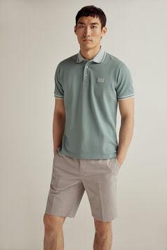 Pedro del Hierro Short-sleeved PdH logo polo shirt Burgundy