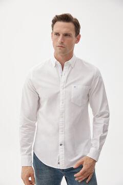 Pedro del Hierro Iconic plain Oxford shirt White