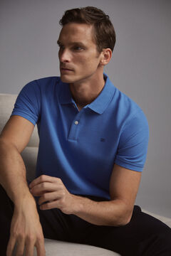 Pedro del Hierro Short-sleeved PdH logo polo shirt Blue