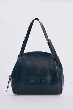 Pedro del Hierro Black leather shoulder bag Black
