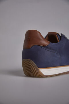 Pedro del Hierro New leather icon sneaker Blue