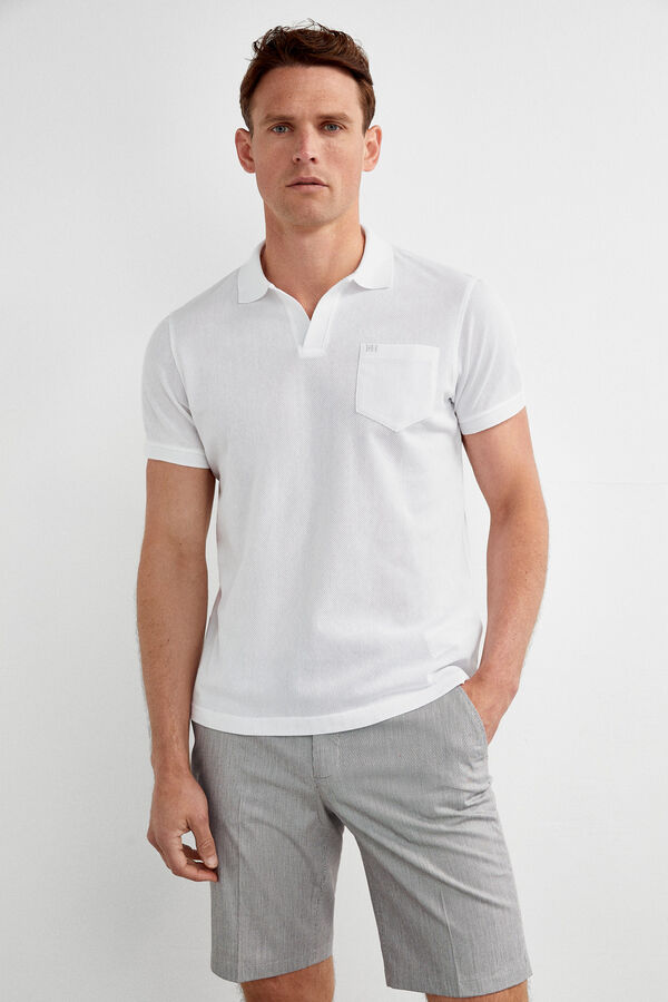 2628a85e3 Pedro del Hierro Short-sleeved polo shirt Ecru
