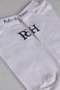 Pedro del Hierro Stripy logo socks White