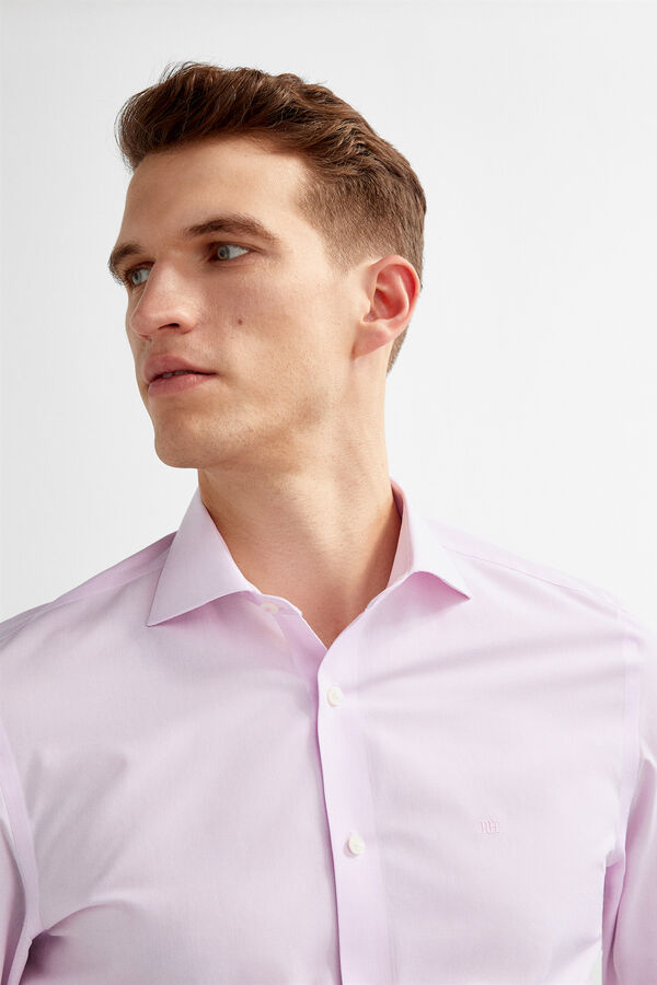cc65d4860 Pedro del Hierro Classic non-iron dress shirt micro checks Pink