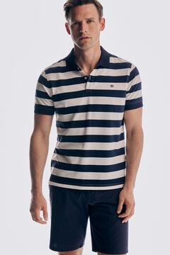 Pedro del Hierro Camisa pólo de manga curta às riscas Azul