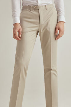 Pedro del Hierro Regular fit easy-iron stain resistant travel trousers Beige