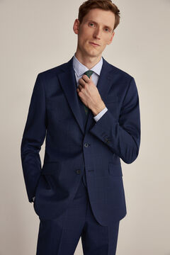 Pedro del Hierro Slim fit blue checked blazer Blue