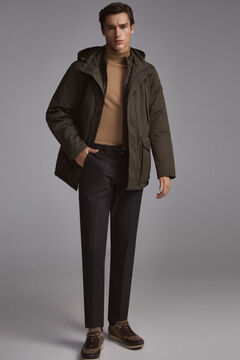 Pedro del Hierro Short parka with removable lining Green