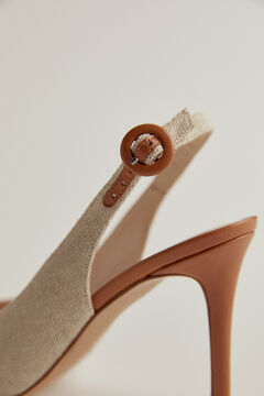 Pedro del Hierro Fabric and napa heel Grey