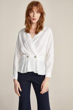 Pedro del Hierro Wrap blouse  Grey