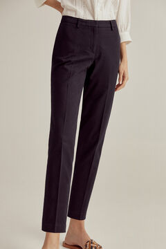 Pedro del Hierro Jacquard slim-fit trousers Blue