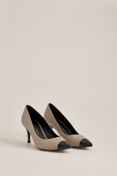 Pedro del Hierro Nappa leather heeled shoe  Beige