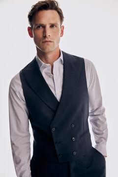 Pedro del Hierro Tailored fit blue vest Blue