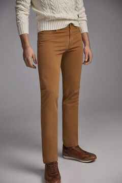 Pedro del Hierro Coloured slim fit 5-pocket premium flex jeans  Brown
