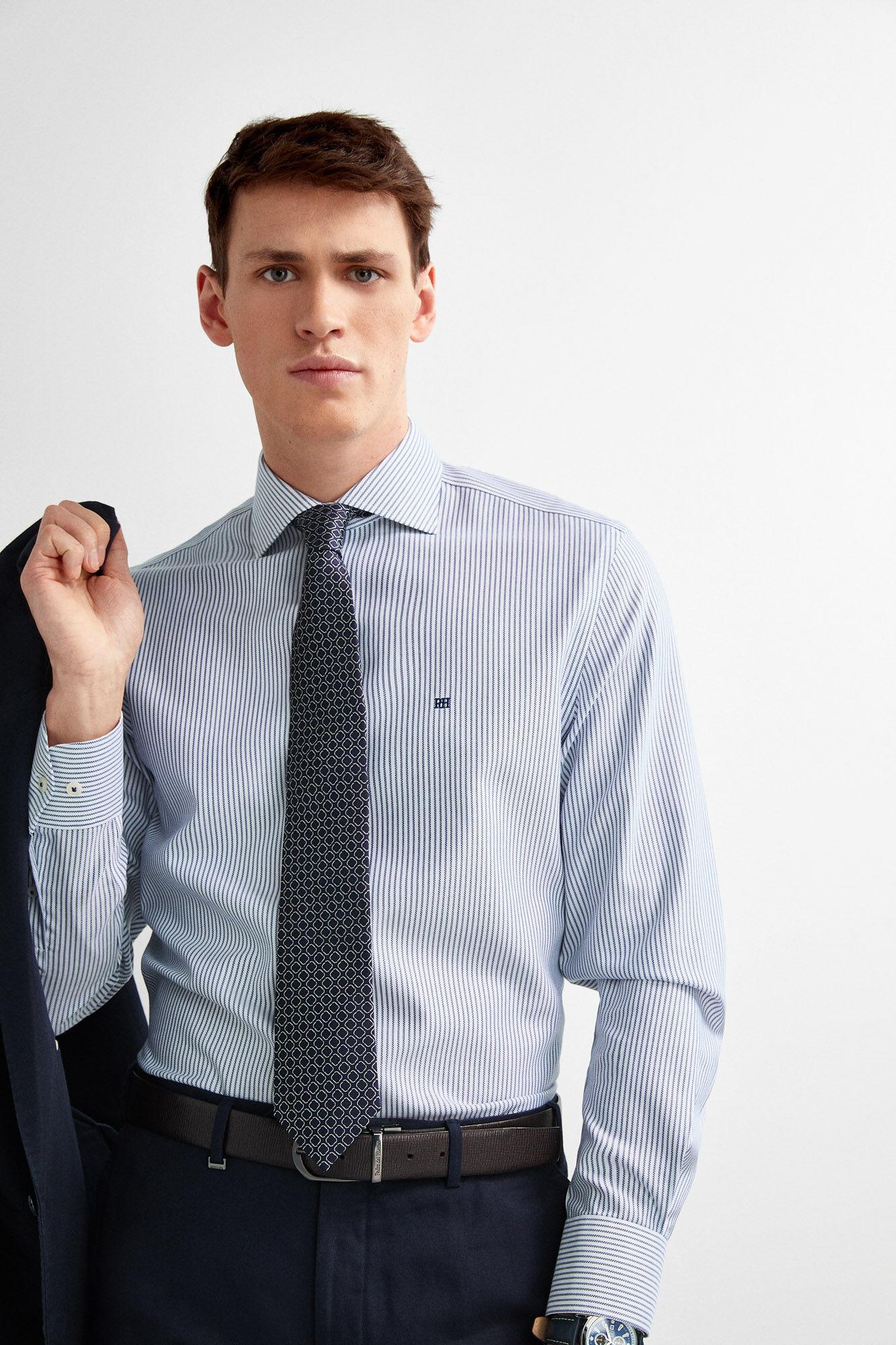 d701e26d4cfc Classic non-iron striped dress shirt   Shirts   Pedro del Hierro Man ...