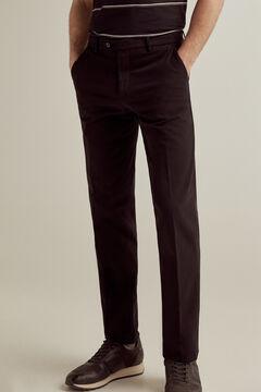 Pedro del Hierro Pantalón chino Premium Flex Slim Negro
