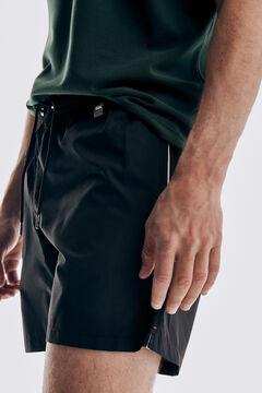 Pedro del Hierro Calções de banho lisos com bolsa da marca Preto