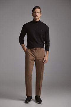 Pedro del Hierro Pantalón chino premium flex slim Brown