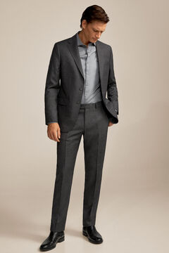 Pedro del Hierro False plain suit trousers Grey