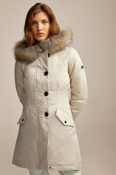 Pedro del Hierro Fitted parka Ivory