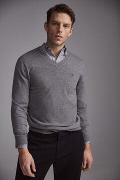 Pedro del Hierro V-neck jumper Grey