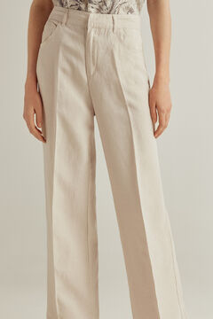 Pedro del Hierro Tencel® linen bootcut trousers Brown