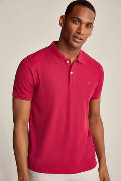 Pedro del Hierro Essential short-sleeved polo shirt Red