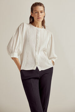 Pedro del Hierro Romantic details blouse White