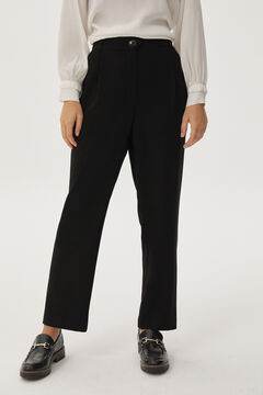 Pedro del Hierro Pleated trousers with belt Black