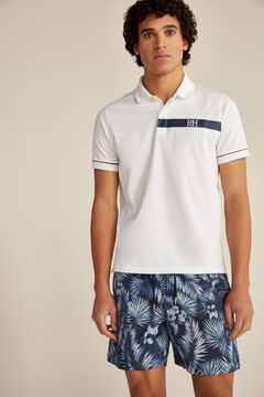 Pedro del Hierro Seaweed print swimming shorts Blue