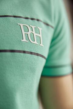 Pedro del Hierro Polo manga corta con logo PdH Verde