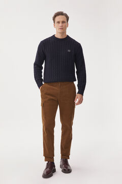 Pedro del Hierro Cargo trousers with comfort waistband Beige