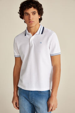 Pedro del Hierro Short-sleeved polo shirt White
