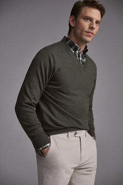Pedro del Hierro V-neck jumper Grey