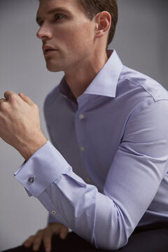 Pedro del Hierro Camisa de vestir tech-non iron gemelos classic Blue