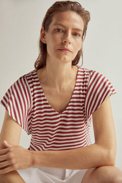 Pedro del Hierro V-neck t-shirt Brown