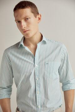 Pedro del Hierro Camisa de rayas algodón Burdeos