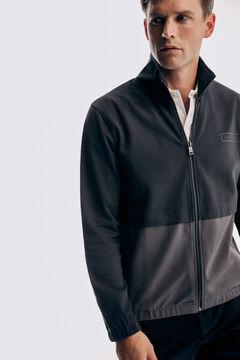 Pedro del Hierro Zip up cardigan Grey
