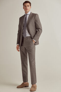 Pedro del Hierro Grey checked tailored fit trousers Grey