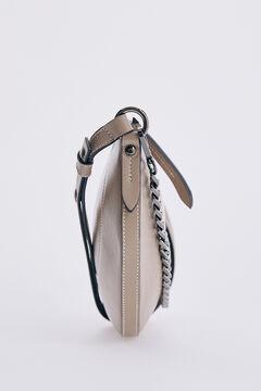 Pedro del Hierro Leather baguette bag Grey