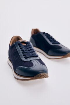 Pedro del Hierro Sneaker icono piso goma Azul