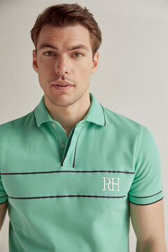 Pedro del Hierro Short-sleeved polo shirt with PdH logo Green
