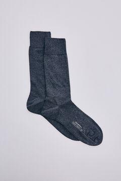 Pedro del Hierro Plain stretch socks Grey